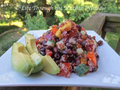 Red Quinoa & Black Bean Salad with Mango | © UrbanCottageLIfe.com