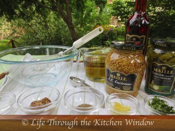 Ready for My Maille Vinaigrette │ © Life Through the Kitchen Window