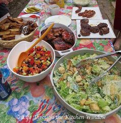 The BBQ Buffet Table | © Life Through the Kitchen Window