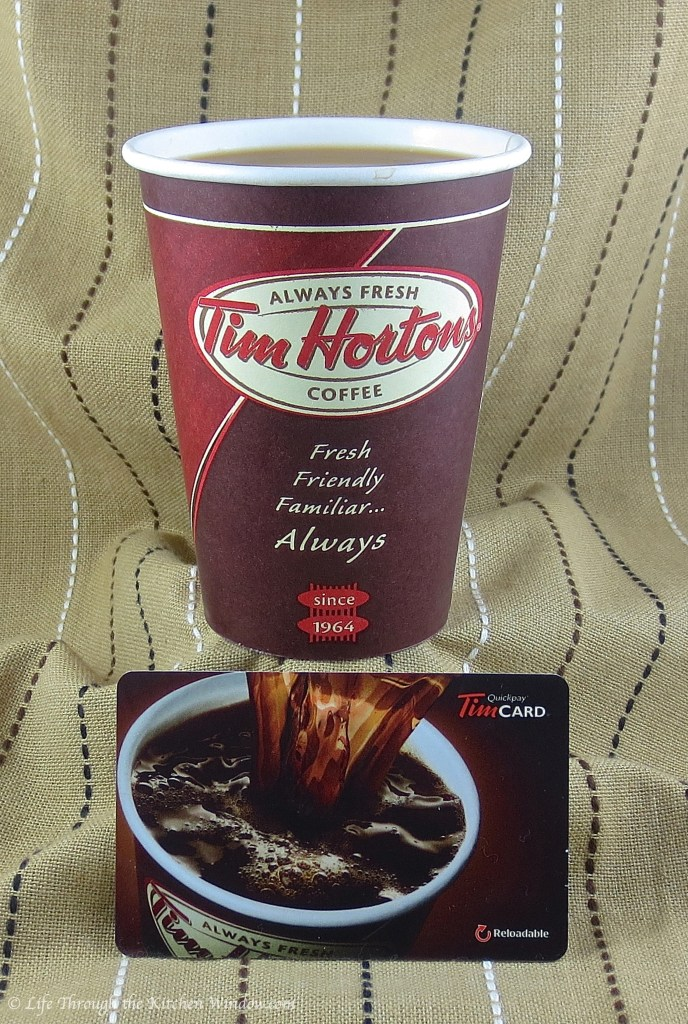 Tim Hortons Dark Roast & Gift Card | © Life Through the Kitchen Window.com