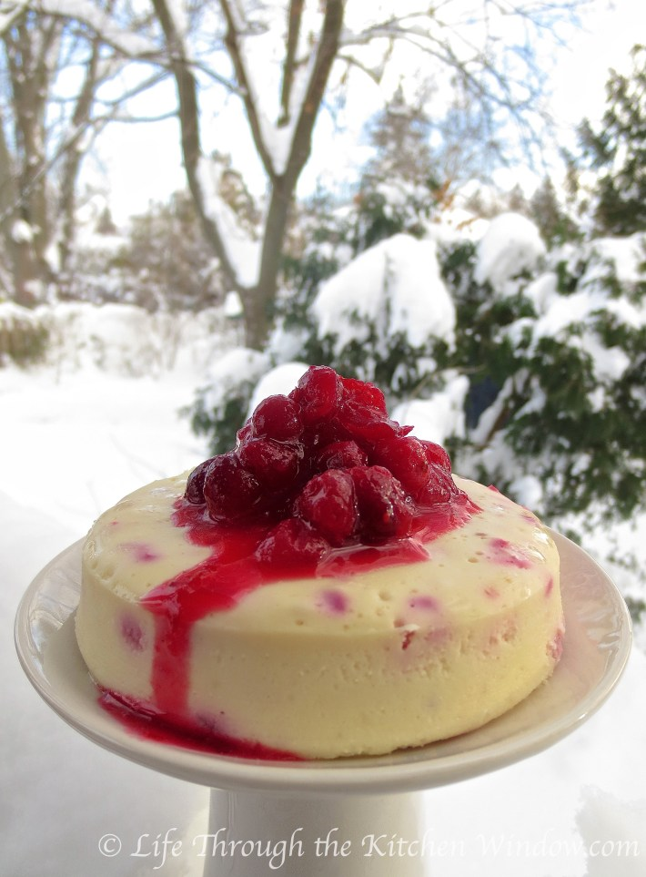 Cranberry Cheesecake | © Life Through the Kitchen Window.com