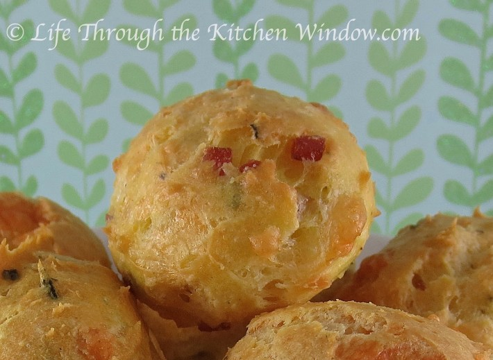 Italian Ham & Cheese Gougere | © Life Through the Kitchen Window.com