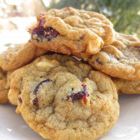 Cranberry White Chocolate Cookies | © UrbanCottageLife.com