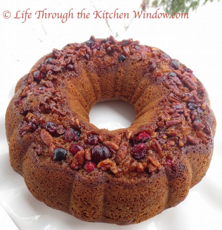 Pecan Coffee Cake With a Cranberry Pecan Topping ⎮ © UrbanCottageLife.com