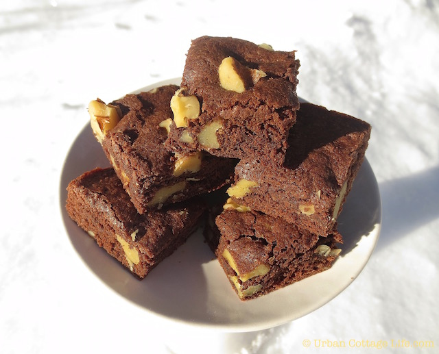 Nut-Topped Cocoa Brownies | © Urban Cottage Life.com