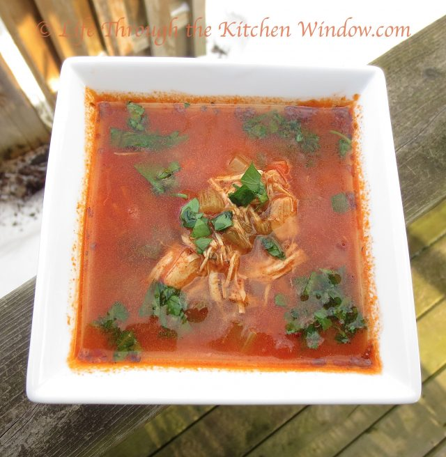 Southwest Chicken Soup | © Life Through the Kitchen Window.com
