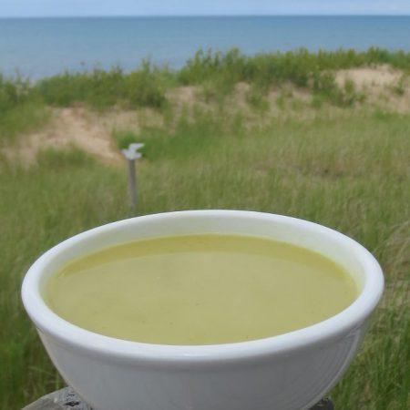 Cream of Fresh Pea Soup │ © Life Through the Kitchen Window.com