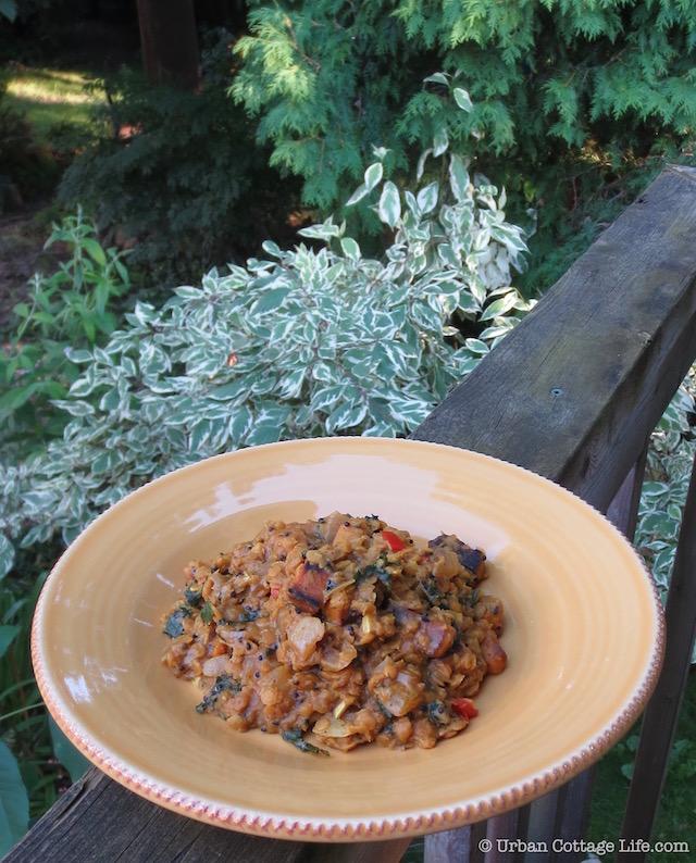 Red Lentil Coconut Dhal |© Urban Cottage Life.com