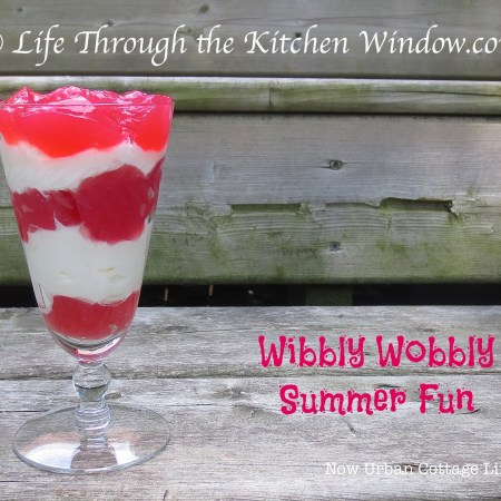 Wibbly Wobbly Fun - Rhubarb Jelly & Cream | © UrbanCottageLife.com