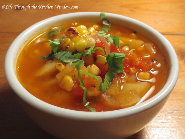 Grilled Corn Soup │ © Life Through the Kitchen Window.com
