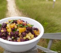 Black Bean, Corn & Peach Salad | © UrbanCottageLife.com