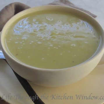 Creamy Leek & Potato Soup | © Life Through the Kitchen Window.com