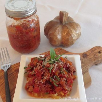 Basic Spaghetti Sauce | © Life Through the Kitchen Window.com