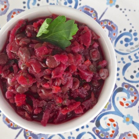 Braised Lentils, Beets & Squash | © UrbanCottageLife.com