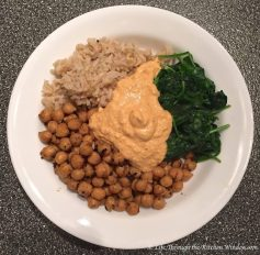 Curried Chickpea Bowl with Spiced Cashew Sour Cream | © Life Through the Kitchen Window.com