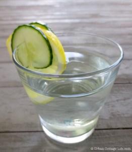 Lemon Cucumber Infused Water | © Urban Cottage Life.com