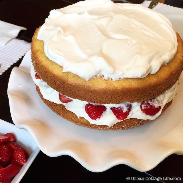 Strawberry Cream Cake   © Urban Cottage Life.com