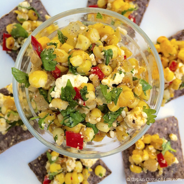 Grilled Corn Salsa | © Urban Cottage Life.com