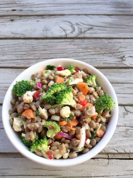 Lentil & Broccoli Salad | © Urban Cottage Life.com