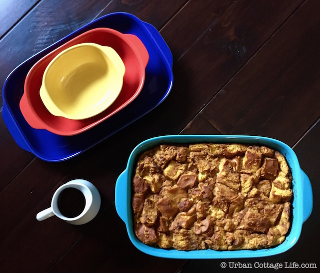 Pumpkin Maple Bread Pudding & Sweet Pumpkin Butter Sauce | Urban Cottage Life.com