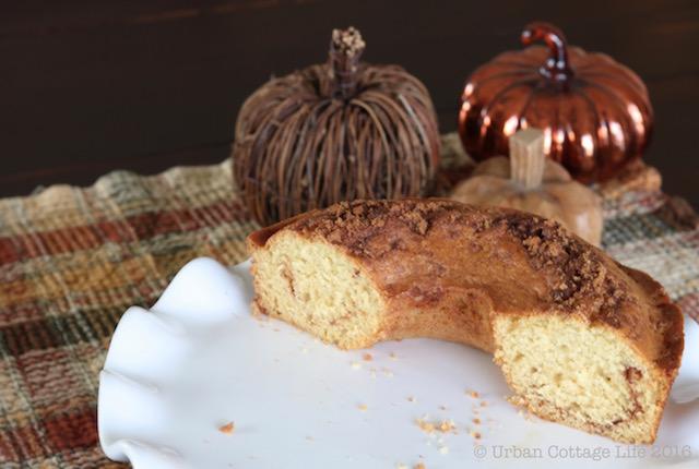 Cinnamon Loaf Coffee Cake   © Urban Cottage Life.com