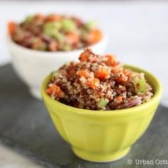 Simple Quinoa Salad | © UrbanCottageLife.com