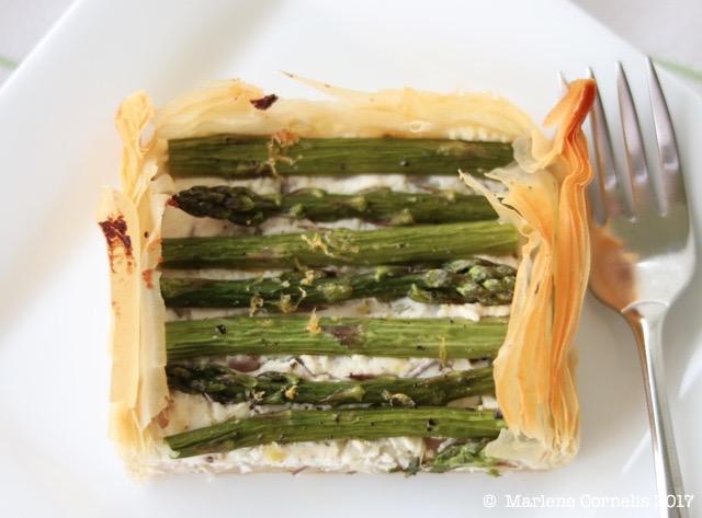 Asparagus Goat Cheese Tart | © UrbanCottageLife.com