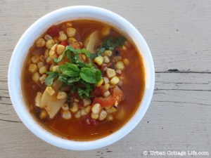 Grilled Corn Soup | © UrbanCottageLife.com