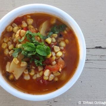 Grilled Corn Soup | © UrbanCottageLife.com
