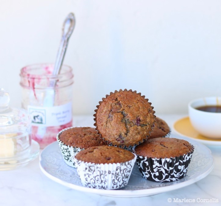 Triple Berry Jam Muffins ❘ © UrbanCottageLife.com
