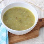 Asparagus White Bean Soup ❘ UrbanCottageLife.com