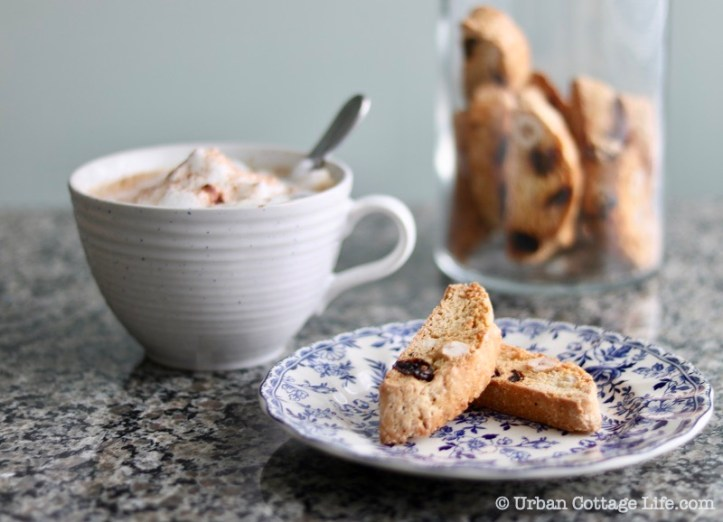 Hazelnut, Sour Cherry and Orange Biscotti ❘ UrbanCottageLife.com