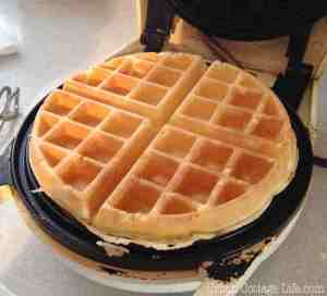 A perfectly cooked waffle