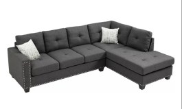 Urban Heckstall 105″ Wide Sofa & Chaise with Ottoman by Urban Couch