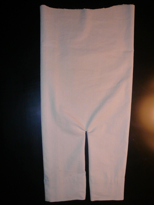 man's pant leg to make baby pants