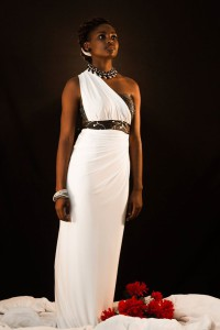 Nobuhle Nkala, Miss Professional 2014 wearing AnnieG evenning Gown