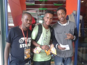 From Left: Ntando Van Moyo,Zwexy Mackena and Marshal Elando Da G