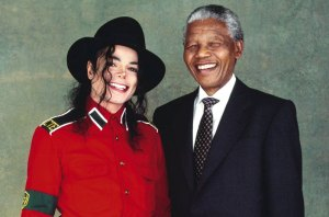 Nelson Mandela with the King oif Pop