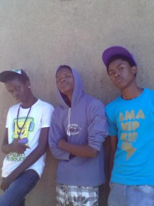 B.A.C.S (centre) with Friends