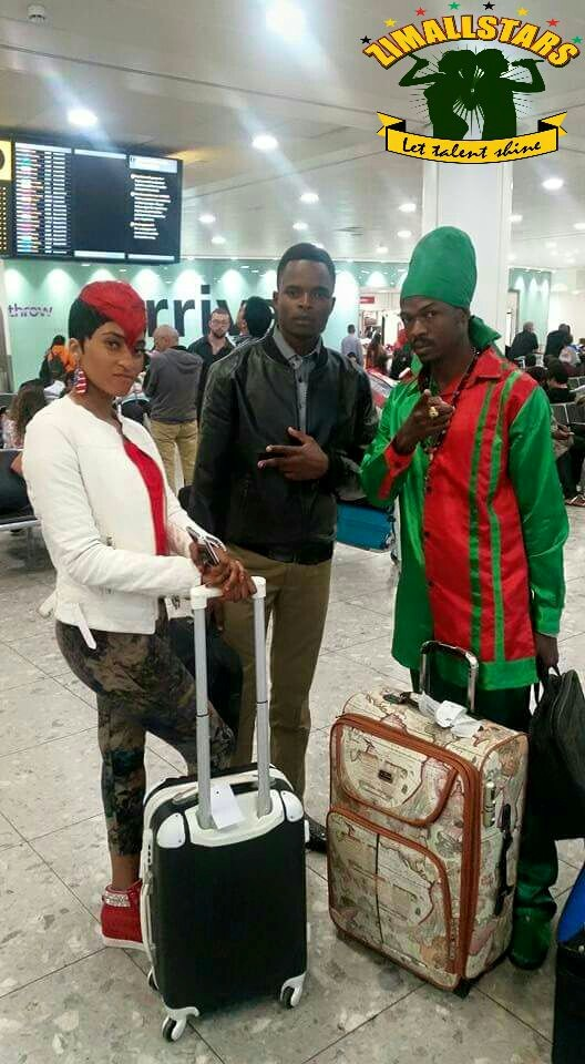 Bev,Terminator and Ricky Fire Arrive in UK: Picture;Changamire Dombo