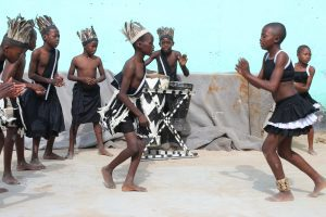 Madabe Primary School dance group go through Muchongo dance routines