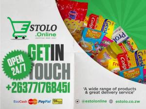 """A wide range of products and great delivery service"" Visit www.estolo.co.zw"