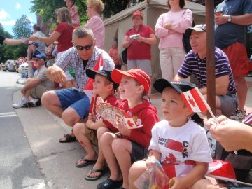 Kids enjoying Canada Day, 2010