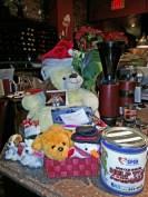 The donation table at our annual Saint John SPCA fundraiser.