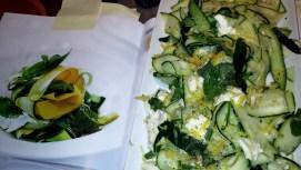 Zucchini and Mozzarella Salad with Lemon Vinaigrette (page 268 of cookbook)