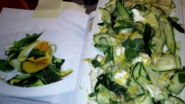 Zucchini and Mozzarella Salad with Lemon Vinaigrette (page 268 of cookbook)