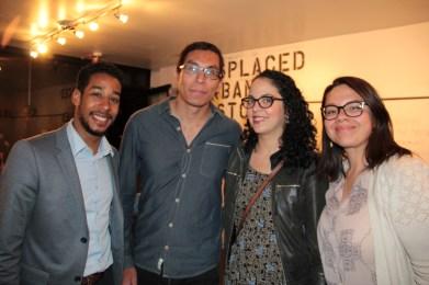 City Councilman Antonio Reynoso, Tenant Organizer Bruno Daniel, and friends
