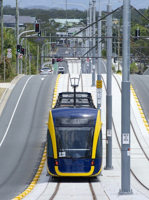 The Gold Coast light rail project neglected the social equity effects of a roughly $1 billion public investment. AAP/Dave Hunt