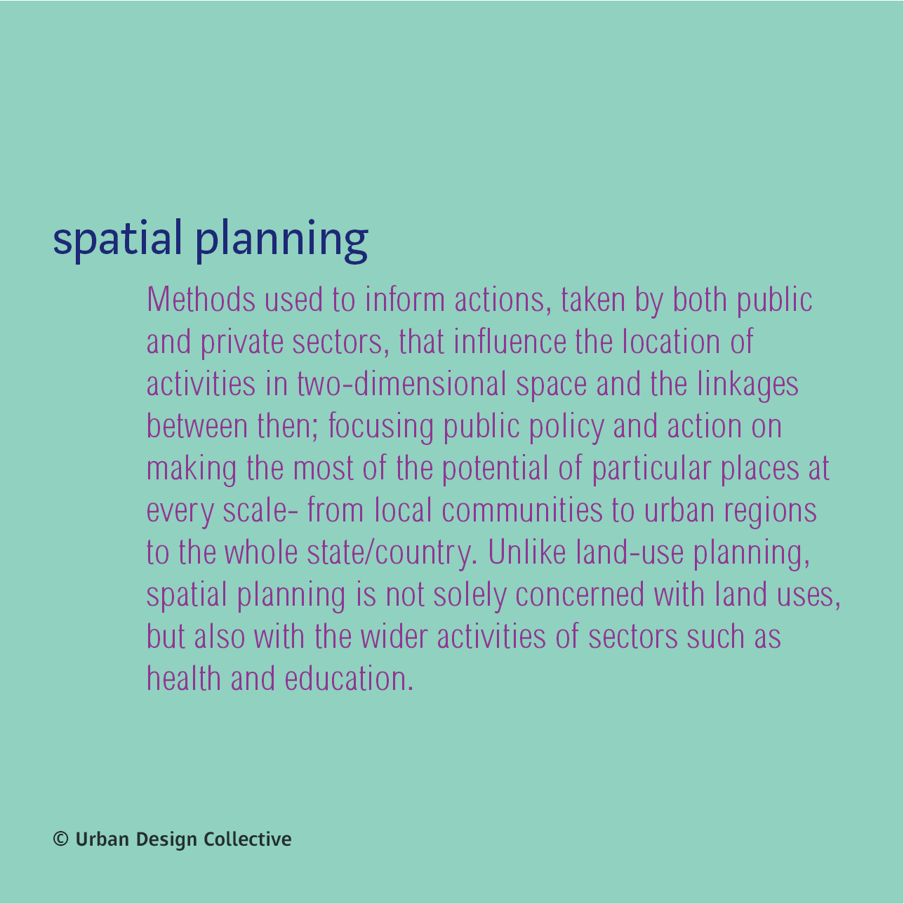 232 Urban Design Word A Day Spatial Planning