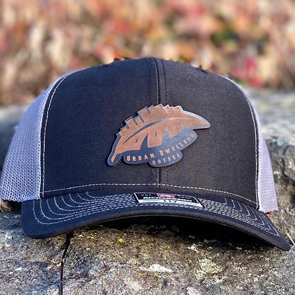 Black and Grey Patch Hat